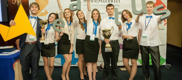 Projects of start-center FIRST CAPITAL were presented at a national competition ENACTUS Ukraine